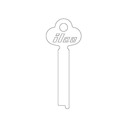Key blank, Ilco 1422 flat stock, steel
