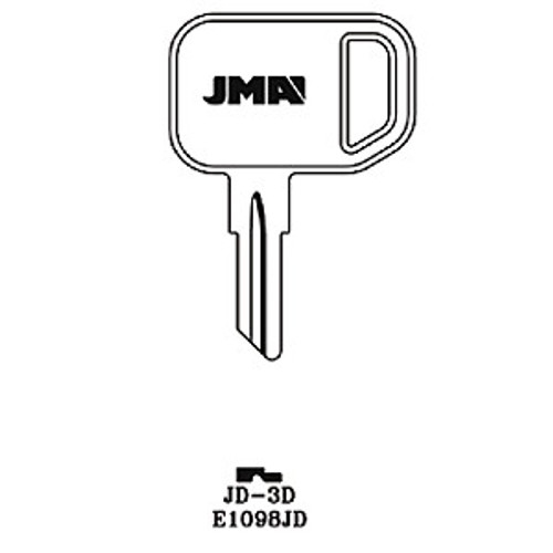 Key blank, JMA JD3D for John Deere E1098JD