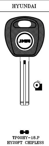 Key blank, JMA TP00HY18P for Hyundai w/o Transponder