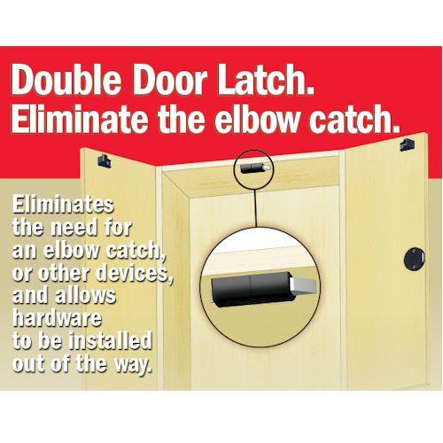 Double Door Latch Kit, D200DL-BLK Black