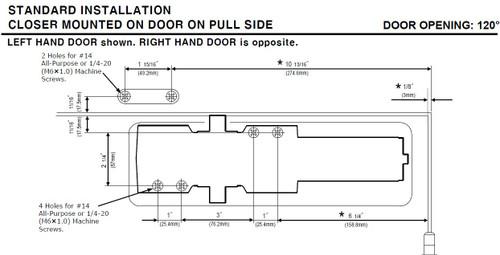 Yale Door Closer, 5801 690
