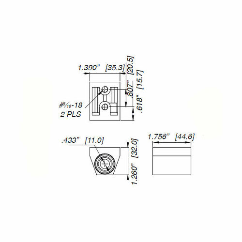 Pivot Set, Ilco IL-OP-10 RH AL, Flush Doors
