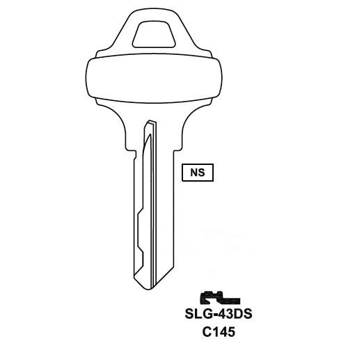 Key blank, JMA SLG-43DS for SCH C145