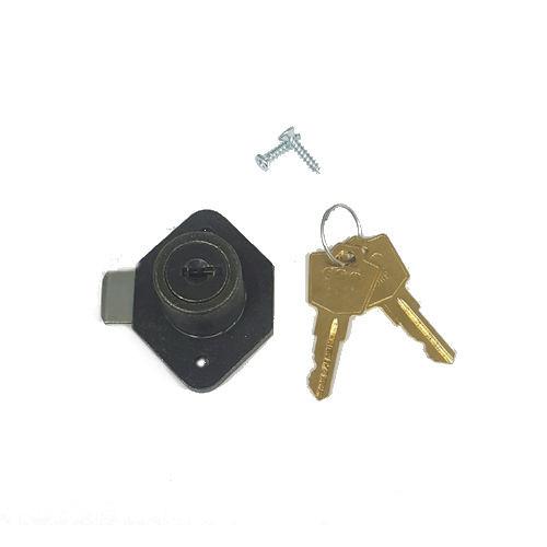 "ESP 875WLD Antique Brass Desk Lock, 7/8"" Keyed Alike ES204"