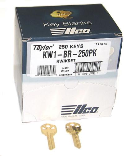 Ilco Taylor KW1-BR-250PK Brass Key blank, 250/Box