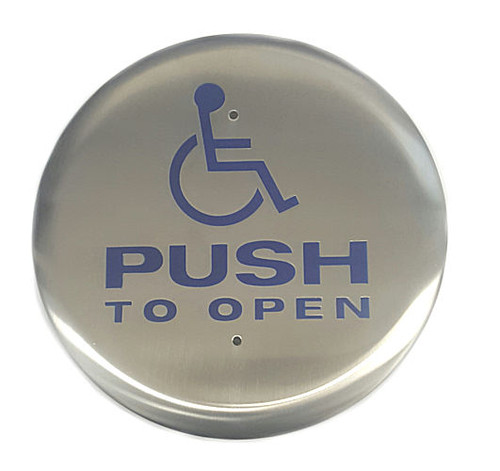 "Exit Wall Button, 6"" Round Wheelchair, Camden CM-60/4"