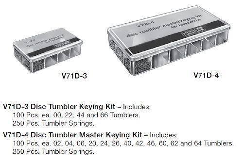 Keying Kit National Disc Master Keying V71D-4