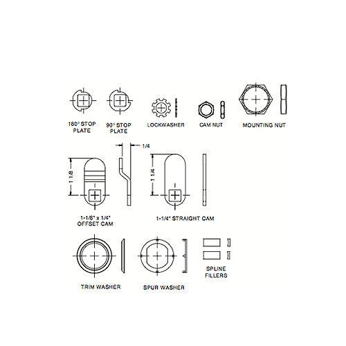 Cam Lock, 7/16 C651XS KA 8025 (65102)