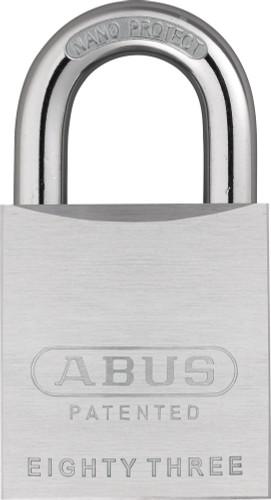 Abus 83/50-200 Chrome Plated Brass Padlock with Kwikset Keyway, Zero Bitted