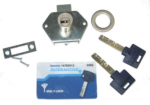 Mul-T-Lock 206SP-DBL1-NS Drawer Deadlock 26D