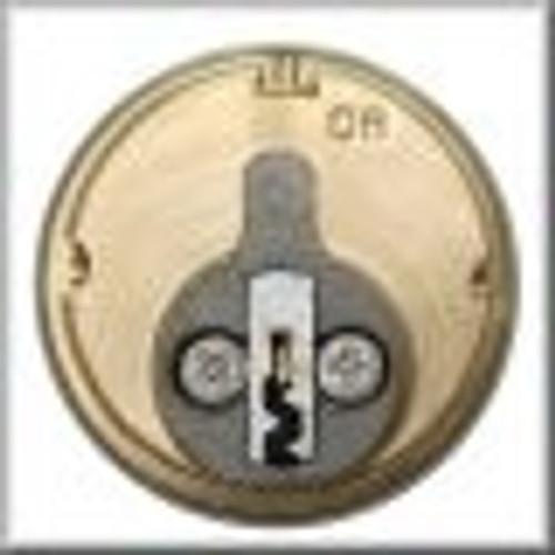 Mortise Cylinder, GMS M118-SCE 1-1/8 Schalge E 10B, Keyed Different