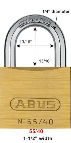 Abus 55/40 Brass Body Padlock, Keyed Alike 5402