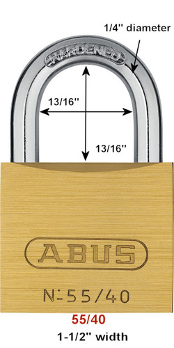 ABUS 55/40KA 5402 Brass Body Padlock, Keyed Alike 5402