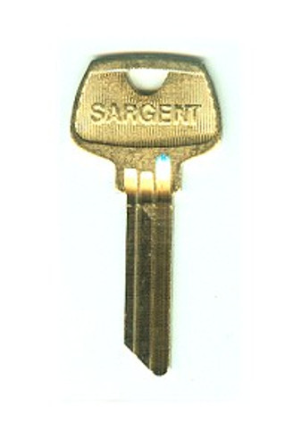 Key blank, 6270RD Sargent RD, 6-Pin