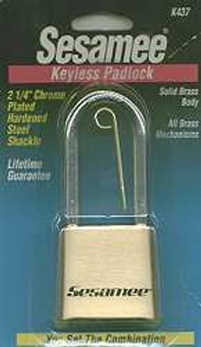 Padlock, Sesamee 437 Resettable Combination (6-Pack)