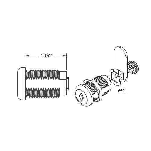Cam Lock, 1-1/8 C650L KA 8025