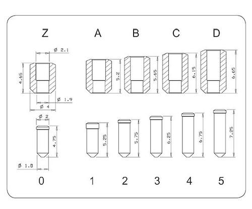 Rekey Pin, Mul-T-Lock PCY-PIN-PLG-B (10-Pack)