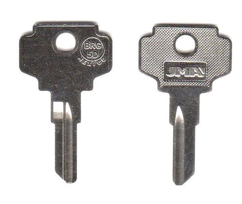 Key blank, JMA BRG-5D for Bargman