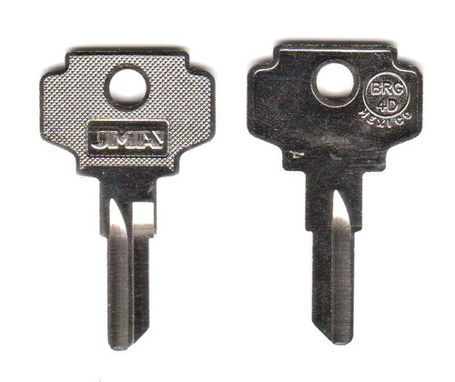 Key blank, JMA BRG-4D for Bargman