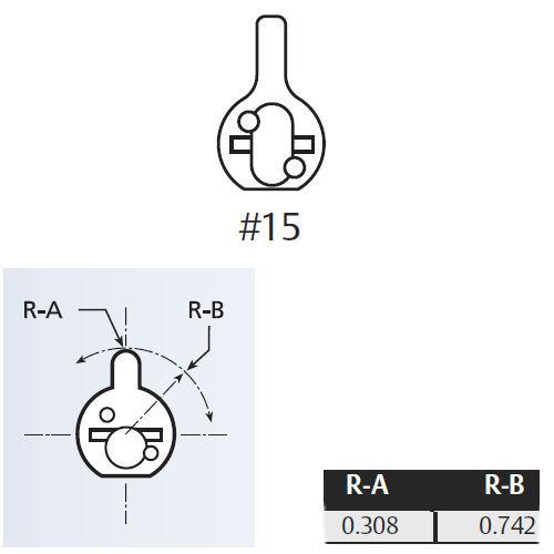 Cylinder Tailpiece, Assa 804877 for Schalge