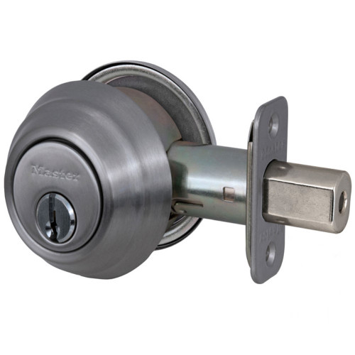 Master Lock DSH0615  Deadbolt, S/C Satin Nickel KW1, Keyed Different