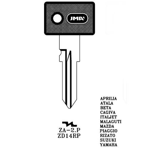 Key blank, JMA ZA2P, Zadi ZD14RP