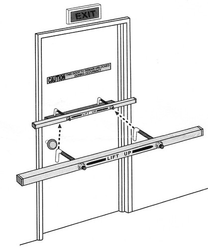 "Exit Security Bar, SB-01-0036 for 36"" Door - Dual Bolts Pkg"