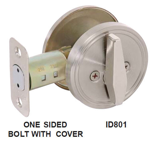 Cal-Royal ID-801 US26D Brushed Chrome One-Side Deadbolt with Blank Plate