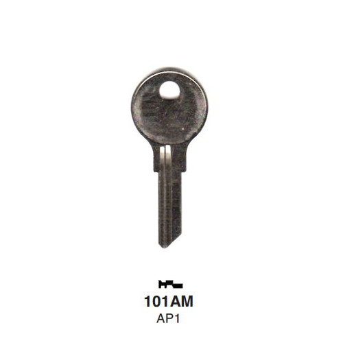 Key blank, Ilco 101AM, Chicago/Steelcase AP1