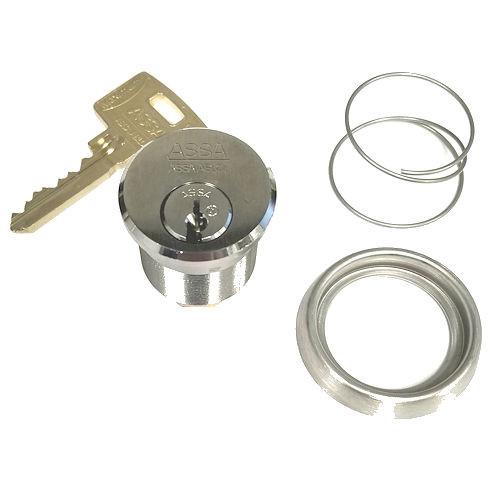 Mortise Cylinder, ASSA 9851-1-118-626-KA2-545 with 2 Keys