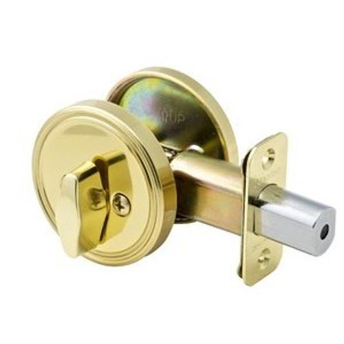 Master Lock DSO0503 Deadbolt, One Sided Bright Brass