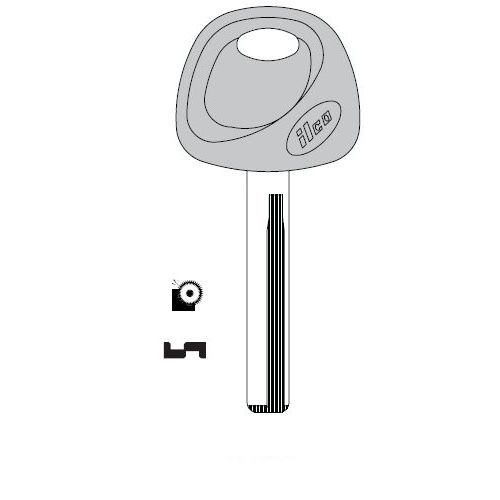 Ilco HY18R-P Key blank, 2013 Hyundai Santa Fe - High Security