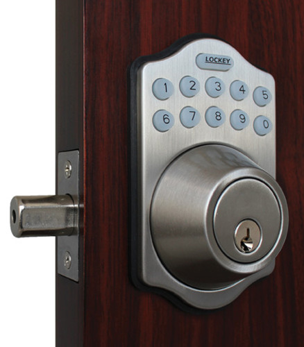 Lockey USA E910SN Electronic Combination Deadbolt, Satin Nickel