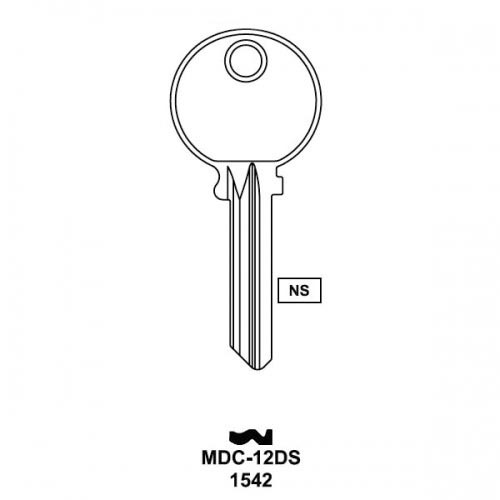 Key blank, JMA MDC12DS for Medeco 1542