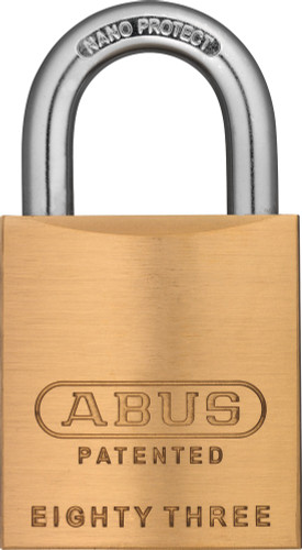Abus 83/45-900 Brass Body Padlock, Arrow Keyway, Custom Keyed