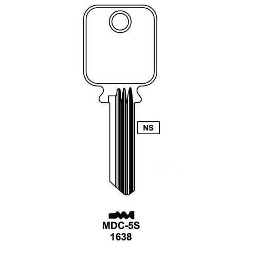 Key blank, JMA MDC-5S Medeco 5 Pin G3
