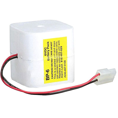 Alarm Lock BP-6 Replacement Battery Pack 6v