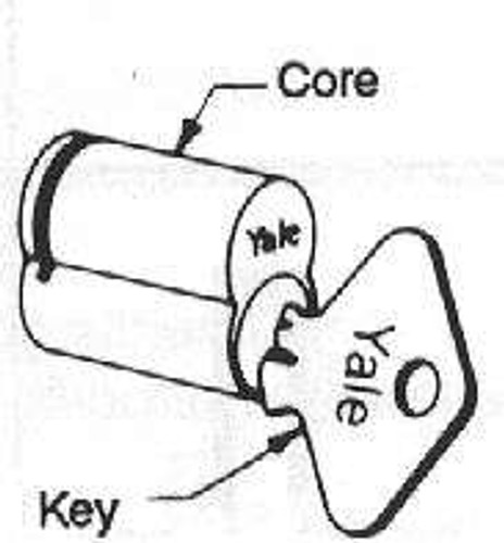 Yale Core, IC 1220 PARA 7-Pin US26D Uncoded