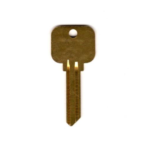 Key blank, Neuter Bow Y78 Plain/Plain 998GA