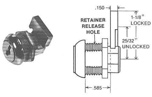 ESP ULRT585MDL Desk Lock, Keyed Alike ES201