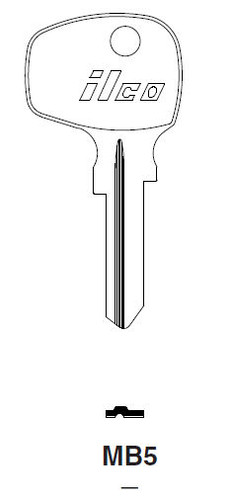 Key blank, Ilco MB5 Mercedes/Taylor 63B