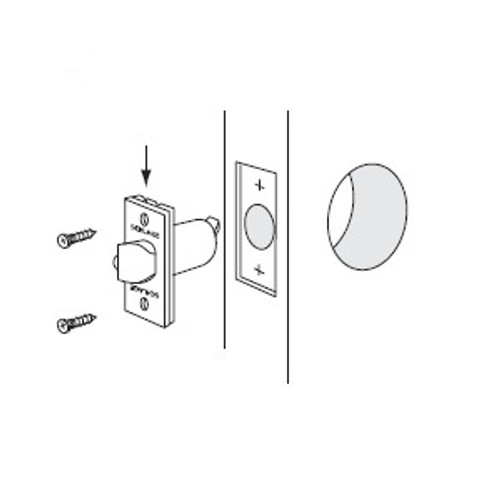 Deadlatch, Schlage 14-047 626, 2-3/8 for D-Series