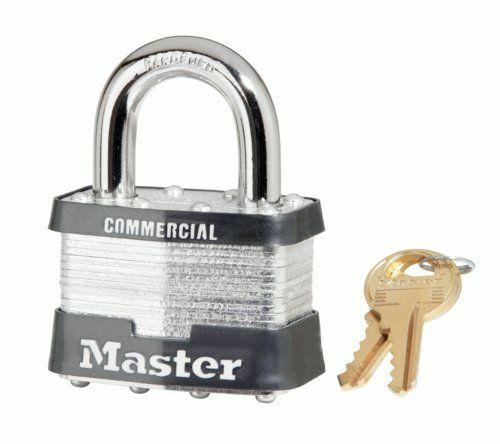 Master Lock #5 Laminated Steel Padlock, Factory Keyed