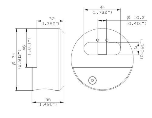 Puck Padlock, Mul-T-Lock 206SP-TR100 Round Padlock - Special Keying