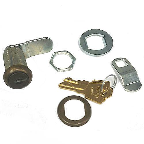 """ESP V375C8056 Antique Brass Cam Lock, 1-3/8"""" Keyed Alike HL302"""