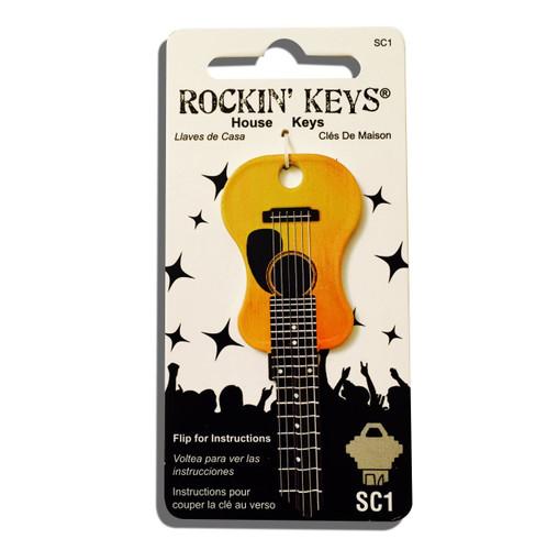 Rockin Key Blank, 5681-SC1 Acoustic Guitar