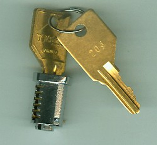 Key Plug KA 101, Nickel Finish Pundra 101-330 Series