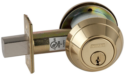 Deadbolt D/C, Schlage B662P 605, Custom Keyed