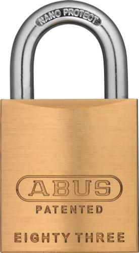 Abus 83/45-3000 Brass Body Padlock, Schlage C-L Keyway, Custom Keyed