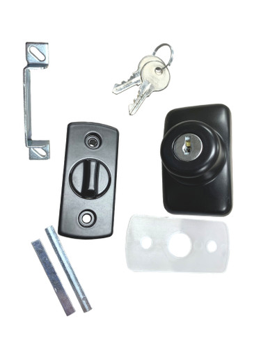 Ultra Hardware 22164 Storm Door Deadbolt Black, Keyed Alike